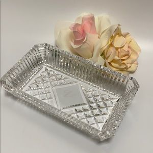 Waterford Crystal Rectangular Tray With Box